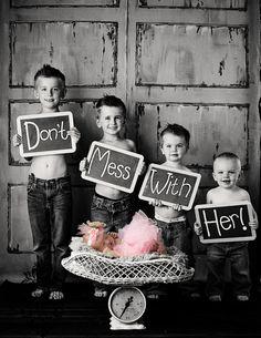 photo card idea for boys