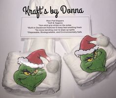 Grinch Maxi Pad Bedroom Slippers by kraftsbydonna on Etsy