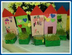 Σπορά! Easy Art Projects, Projects To Try, Autumn Activities, Activities For Kids, Diy For Kids, Crafts For Kids, Why Try, Classroom Projects, Simple Art