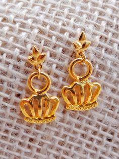 Brincos Coroa - Crown Earrings | Beat Bijou | Elo7