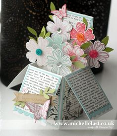Card In a Box using Stampin up products www.michellelast.co.uk