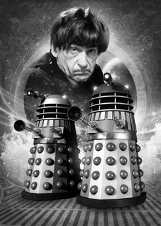 Patrick Troughton and The Daleks.