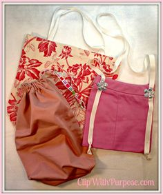 Upcycle unwanted clothing into adorable tote bags!