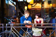 Engagement Photo  Kruezburg's Coffee Shop- San Luis Obispo, CA