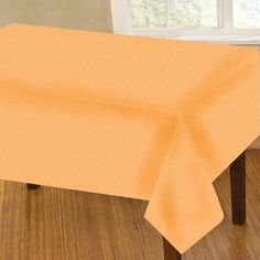"Homewear Linens Liquid Crepe Oblong Tablecloth Color: Coral, Size: 120"" W x 60"" L #Homewear"