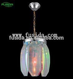 Hotel big crystal chandelier modern luxury crystal multicoloured pendant lamp