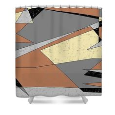 Shower Curtain of 'Balanced 4' by Sumi e Master Linda Velasquez. All My Apparel in SHOP at top of site.