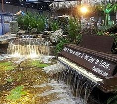 Piano Waterfall...this was done for a local home show....probably wouldn't be a permanent feature, but what a fun thing to do.