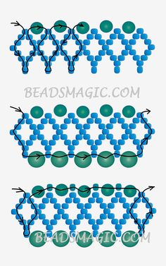 Free pattern for beaded necklace Alto | Beads Magic - 2--U need Seed beads 11/0, Pearl beads 4 mm and 6-8 mm.