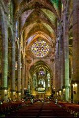 Palma Mallorca Cathedral Interior, Majorca, Spain