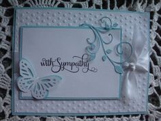 Sympathy Card With Sympathy Condolences Sorry for by CardsbyEileen