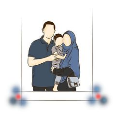 Muslim Girls Photos, Cute Muslim Couples, Romantic Couples, Mother And Child Drawing, Drawing For Kids, Eid Background, Cover Wattpad, Hijab Drawing, Love Cartoon Couple