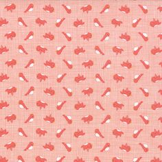 Story Book - Birdies in Peach (13117 16) // Juberry Fabrics