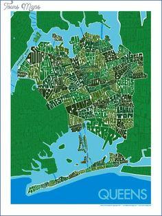 nice Queens New York map neighborhood