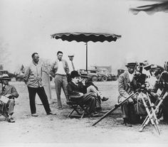 Movie Making with Charlie Chaplin At His Studio