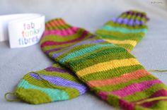 Day 19 of #25DaysofEnabling: Olive Rainbow by FabFunkyFibres (on Etsy)!