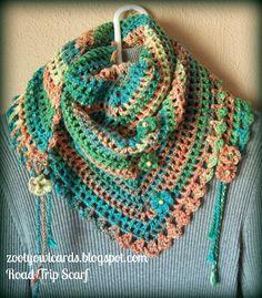 triangle granny scarf ~ free pattern