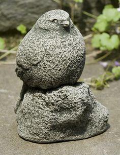 Chickadee cast stone bird statue made by Campania International