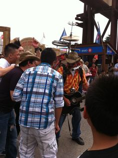 One man band entertaining at then Calgary Stampede. He was awsome This is what the enterence looked like a year ago