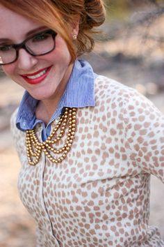 Delusions of Grandeur: Animal print, stripes and pearls