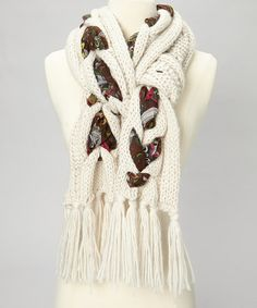 @Laura Sanche  Take a look at this Oatmeal Cable-Knit Floral Scarf
