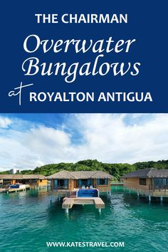 The Chairman Overwater Bungalow experience at Royalton Antigua. This all inclusive resort experience will blow you away. Check out the all new overwater suites at Royalton Antigua resort! Caribbean Vacations, Vacation Resorts, All Inclusive Resorts, Best Vacations, Romantic Destinations, Travel Destinations, Overwater Bungalows, Mexico Resorts, Beautiful Places In The World