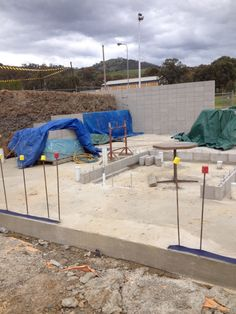 Netball change rooms slab poured. (October 2013)