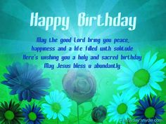 Birthday Wishes Christian Message ~ Christian birthday wishes religious birthday wishes messages