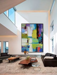 Handmade Extra Large Contemporary Painting Huge by CelineZiangArt