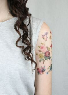 temporary vintage flower tattoos