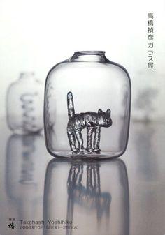 Glass works by Yoshihiko TAKAHASHI, Japan