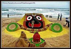 Lord Jagannath....sand art..Puri..Odisha..India..