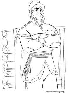 Another beautiful Disney's Frozen free coloring page. Here is Kristoff, a true outdoorsman and Sven's best friend. Enjoy!