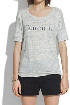 #Madewell Comme Ci Comme ÇA  Banded Tee