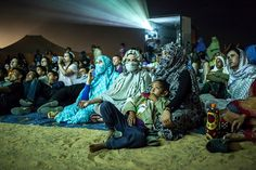 A screening at the Western Sahara international film festival.
