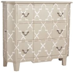 French Diamond Chest (3,015 CAD) ❤ liked on Polyvore featuring home, furniture, storage & shelves, dressers, chest, french white furniture, white bedroom dresser, french white dresser, colored dressers and drawer furniture