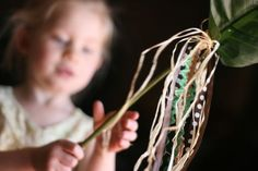 Make a beautiful Hosanna Palm with your children. A fake palm, ribbon, twine, and hot glue!