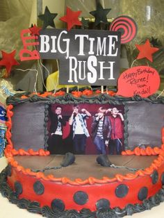 Big Time Rush cake I will take that thank you very much