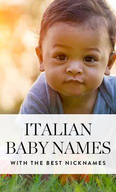 14 Italian Baby Names with Beyond Cute Nicknames names 14 italienische Babynamen mit mehr als süßen Spitznamen Namen Unisex Baby Names, Baby Girl Names, Kid Names, M Names For Boys, Best Baby Names, Different Baby Names, Baby Boy Names Italian, Irish Baby Names, Baby Boy Names Spanish