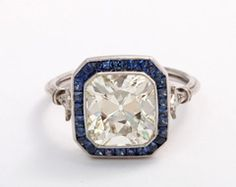 Sapphire and Diamond Ring - yes, please!