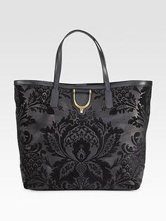 e240102703b0 Gucci Soft Stirrup Medium Shoulder Bag in brocade print leather Stylish  Handbags