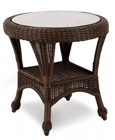 "Furniture Monterey Wicker 22"" Round Outdoor End Table, Created for Macy's & Reviews - Furniture - Macy's"