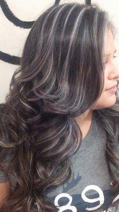 Highlights on dark hair