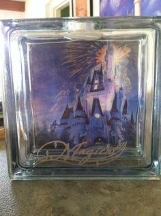 Disney Glass Block Bank