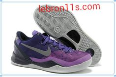 Lebron11s.com Wholesale Club Purple Metallic Silver Kobe Bryant 8,Kobe VIII,Kobe Shoes 2013 555035 500 Discount To $63.76