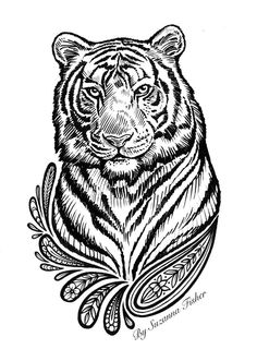 Damask Tattoo T-Shirt Design by Suzanna Fisher