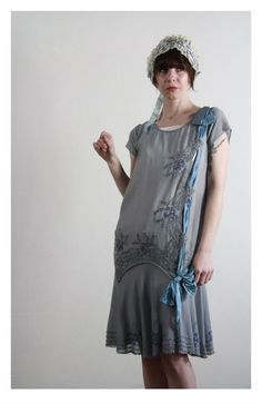 1920s Flapper Dress in Silk