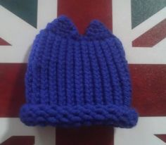 0-3 Month Old Blue Cat Ear Hat by redtailfoxx on Etsy