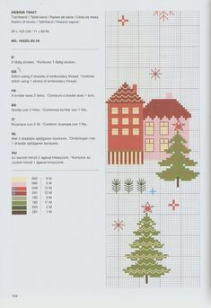 Christmas Cross, Xmas, Techno, Cross Stitch, Holiday Decor, Projects, Table Clothes, Stitch Patterns, Buildings