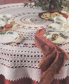 StarFlower Round Tablecloth Crochet Pattern